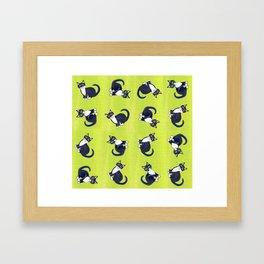 Tuxedo swirls Framed Art Print