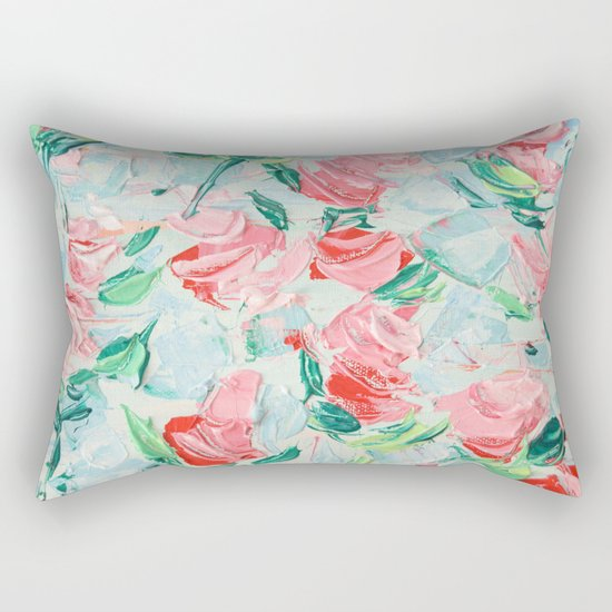 Pompidou Rose Garden Rectangular Pillow