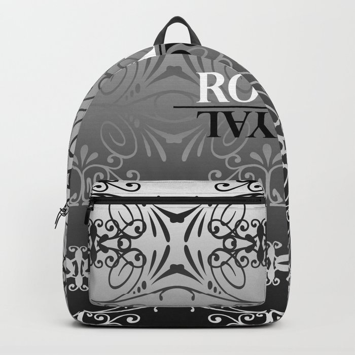 Black and white lace pattern Backpack