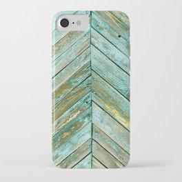 Vintage Blue Wood iPhone Case