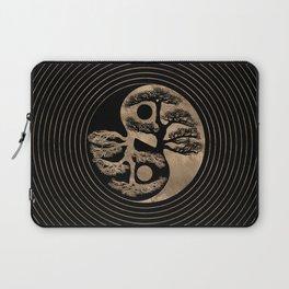 Yin Yang Tree Black and Gold Laptop Sleeve