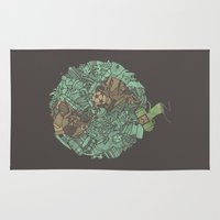 katamari Area & Throw Rugs featuring Prince Atlas by Hector Mansilla