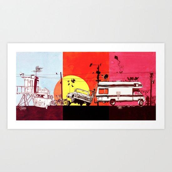 Triptych  Art Print