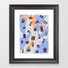 Atomic Munchies Framed Art Print