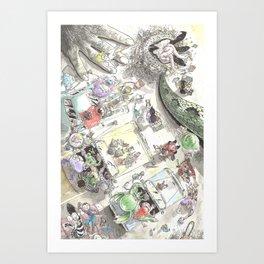 Creature Feature Scavenger Hunt Art Print