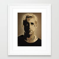 ryan gosling Framed Art Prints featuring Ryan Gosling TPBTP by Andy Rogerson