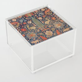 17th Century Persian Rug Print with Animals Acrylic Box