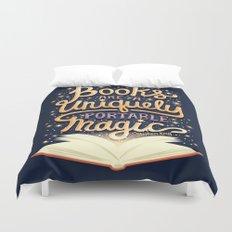 Books are magic Duvet Cover