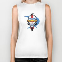 gizmo Biker Tanks featuring Hello Gizmo by Hoborobo