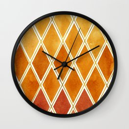 Autumn colors and  gold texture Wall Clock