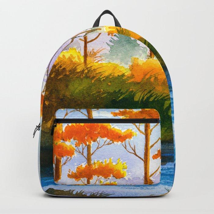 Autumn scenery #12 Backpack