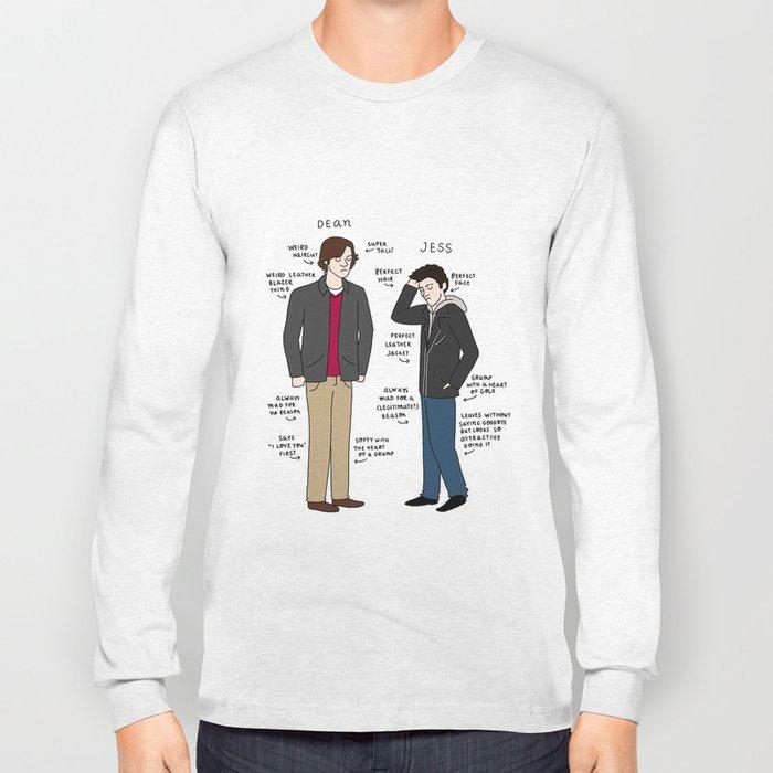 Dean vs. Jess Long Sleeve T-shirt