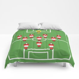 Soccer football team in red Comforters