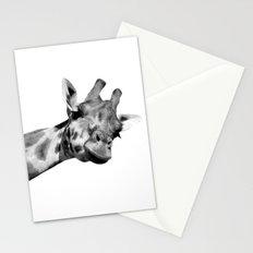 Black and white giraffe Stationery Cards