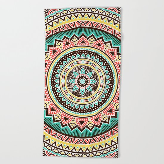 Hippie Mandala 13 Beach Towel