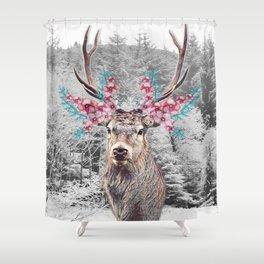Fluttering Stag Shower Curtain