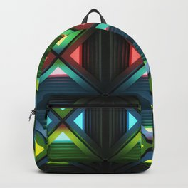 Modern background with light effects of geometric ornament. Backpack