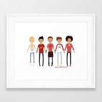 valentines Framed Art Prints featuring Valentines by cargdoodles