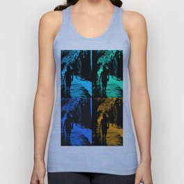 Blue party in the village Unisex Tank Top
