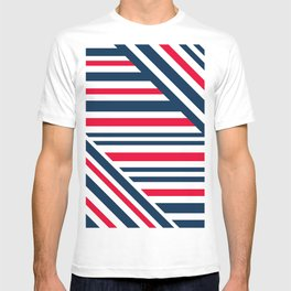 Geometric pattern. Striped triangles 1 T-shirt