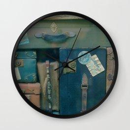 Vintage Suitcases (Color) Wall Clock