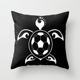 Turtle Football Ball Sea Elegant Fan Gift Throw Pillow