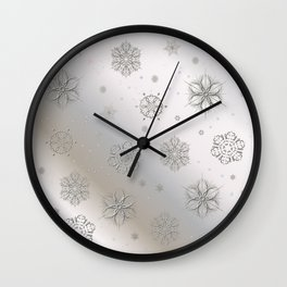 Snow and Silver Wall Clock