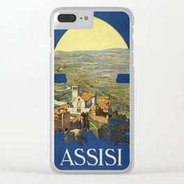 Vintage poster - Assisi Clear iPhone Case