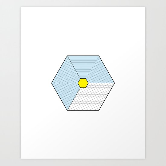 Hexagon Prism Art Print