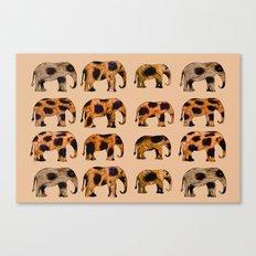 CHEETAH ELEPHANTS Canvas Print