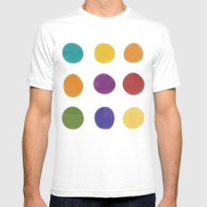 Color Dots White MEDIUM Mens Fitted Tee