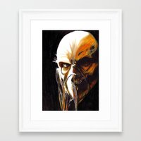 satan Framed Art Prints featuring Dr. Satan by Zombie Rust