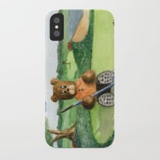 Golfer Bear iPhone X Slim Case