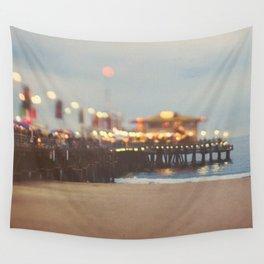 Beach Candy. Santa Monica pier photograph Wall Tapestry