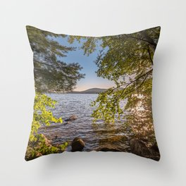 Secret Place By The Lake Throw Pillow
