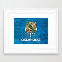 oklahoma Framed Art Prints featuring Oklahoma by C Liza B
