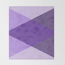 purple triangles Throw Blanket