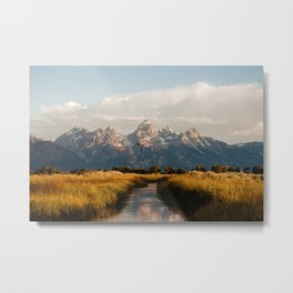 Grand Teton National Park at Sunrise Metal Print