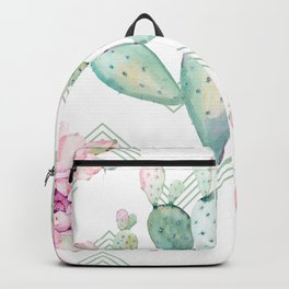 Cactus Chevron Southwestern Watercolor Backpack