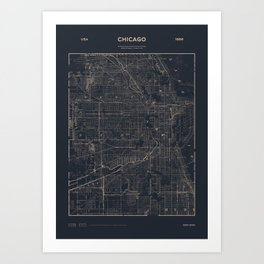 Chicago 1886 Art Print