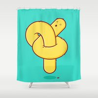 tangled Shower Curtains featuring Tangled by Ryan Speziale