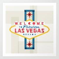 las vegas Art Prints featuring Las Vegas by Fimbis