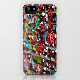 Gum Wall Bokeh iPhone Case