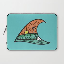 Wave in a Wave - Teal Laptop Sleeve