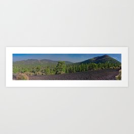 Super Pan view of the Cinder Hills and Sunset Crater Arizona Art Print