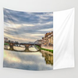Arno River and Ponte Vecchio, Florence Wall Tapestry