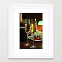 champagne Framed Art Prints featuring champagne by laika in cosmos