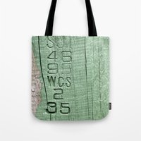 code Tote Bags featuring Code  by Ethna Gillespie