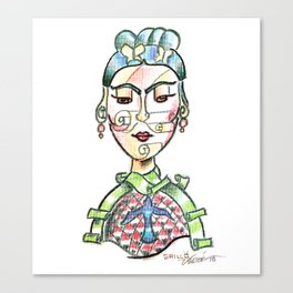 Her Face Canvas Print