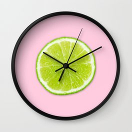 Pink Lime Wall Clock
